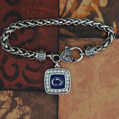 Penn State Nittany Lions Crystal Square Charm Bracelet