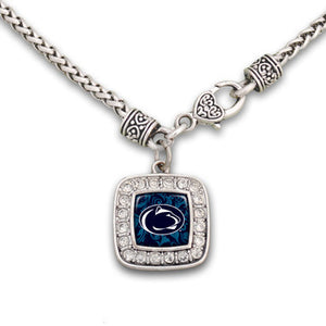 Penn State Nittany Lions Square Crystal Necklace