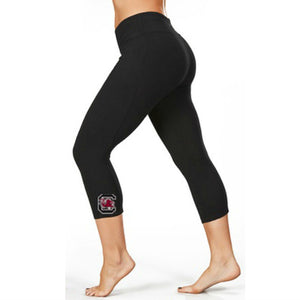 South Carolina Gamecocks Black Capris Leggings
