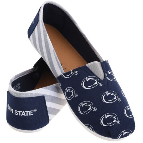 Penn State Nittany Lions Womens Canvas Slip On Shoes