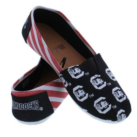 South Carolina Gamecocks Womens Canvas Slip On Shoes