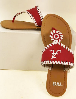 Alabama Crimson Tide Whipstitch Sandals
