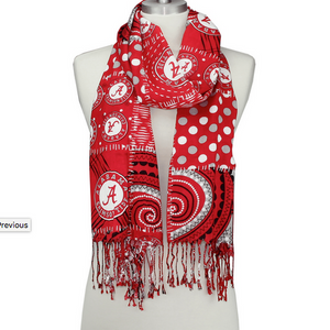 Alabama Crimson Tide Mixed Print Scarf