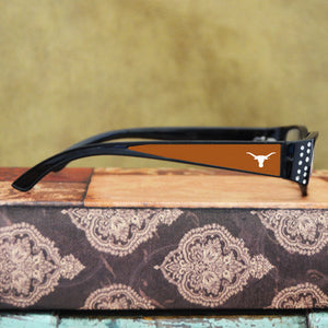 Texas Longhorn Womens Reading Glasses with Crystals
