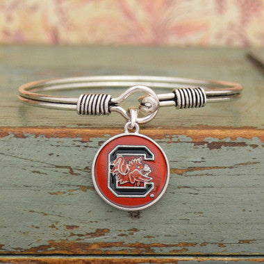 South Carolina Gamecocks Translucent Disc Logo Bracelet