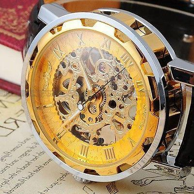 Men's Classic Skeleton Mechanical Wrist Watch