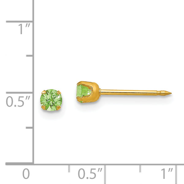 Inverness 14K 3mm August Crystal Birthstone Post Earrings