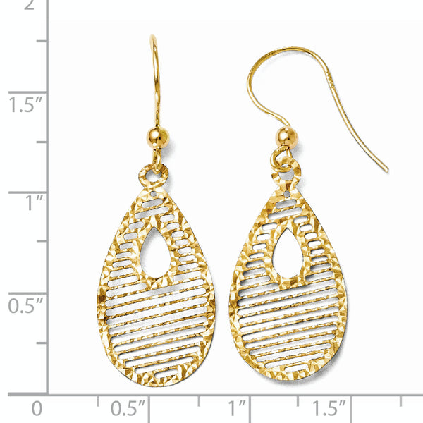 Leslie's 14K Dangle Shepherd Hook Earrings