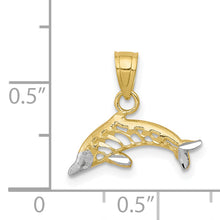Load image into Gallery viewer, 10K & Rhodium Dolphin Charm