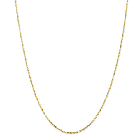 10K 1.5mm Diamond Cut Extra-Lite Rope Chain