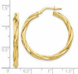 Leslie's 10K Polished Twisted Hinged Hoop Earrings