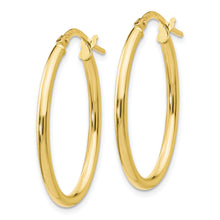 Load image into Gallery viewer, Leslie's 10K Polished Oval Hinged Hoop Earrings