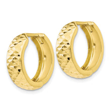 Load image into Gallery viewer, Leslie's 10K Polished and Diamond-cut Hinged Hoop Earrings