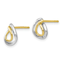 Load image into Gallery viewer, Leslie's 10K w/White Rhodium Polished Post Earrings