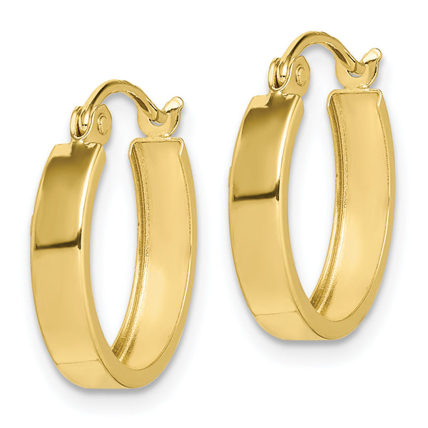 10K Square Tube Hoop Earrings