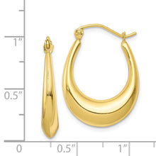 Load image into Gallery viewer, 10K Polished Hollow Classic Earrings