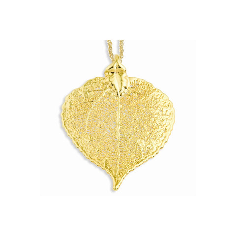 24k Gold Dipped Aspen Leaf w/ Gold-plated Chain