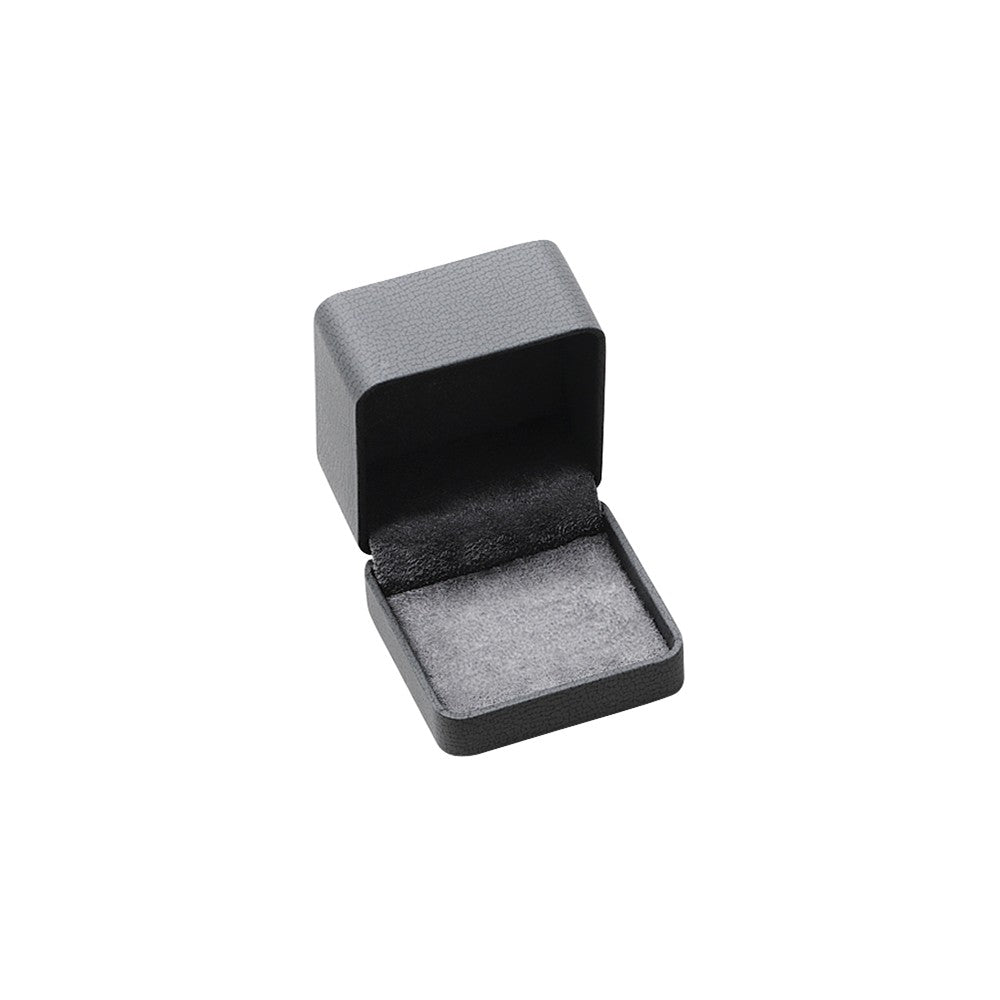 Stainless Steel With 18k Polished Textured Diamond Cuff Links