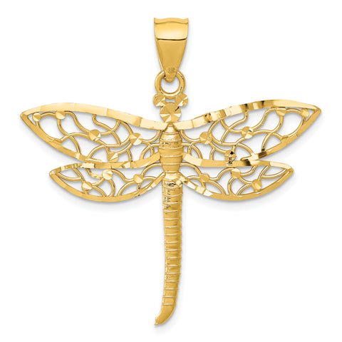 14K Diamond-cut Dragonfly