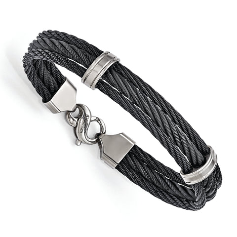 Edward Mirell Titanium Three Row Cable Bracelet