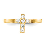14K Madi K CZ Cross Baby Ring