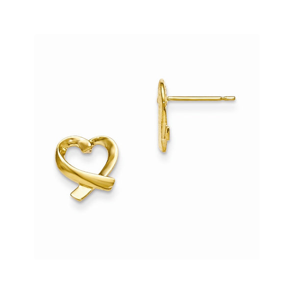 14k Madi K Children's Heart Post Earrings