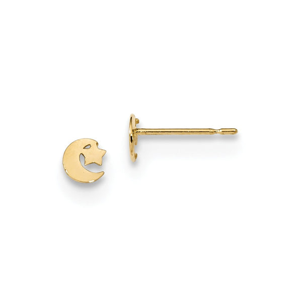 14k Madi K Kids Star and Moon Post Earrings