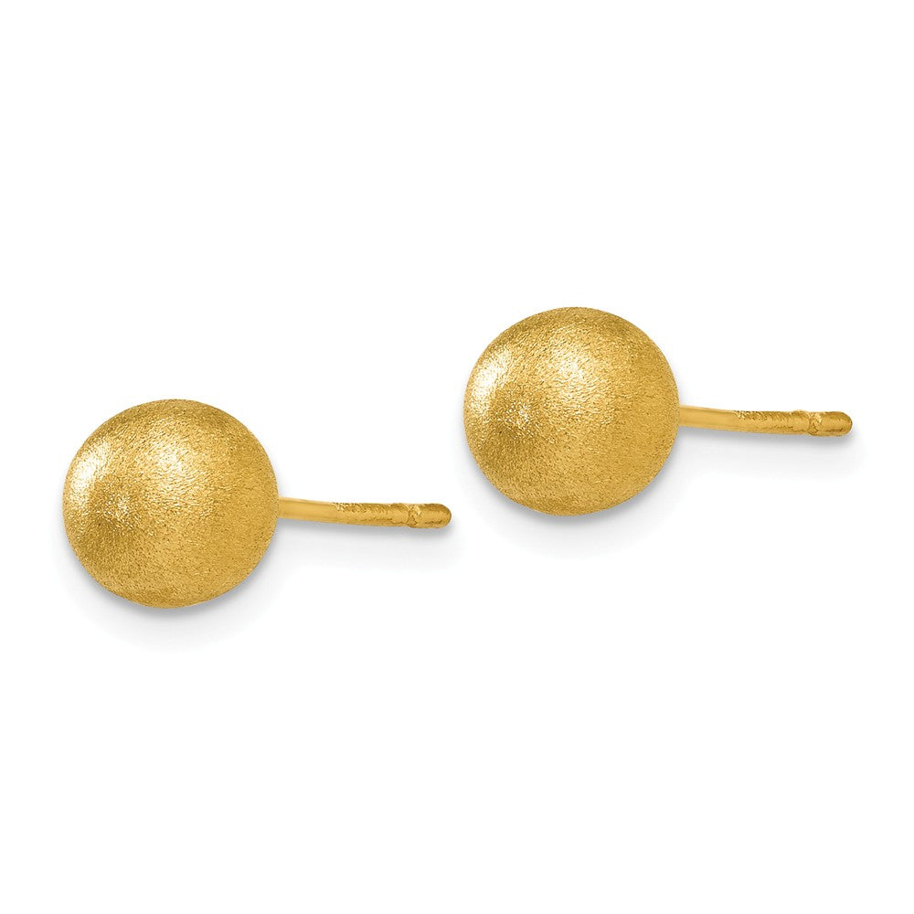 14K 6mm Satin Ball Post Earrings