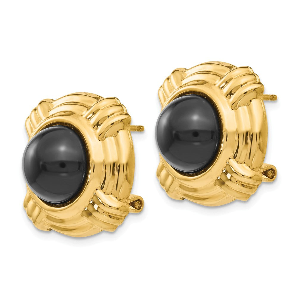 14k Onyx Fancy Earrings