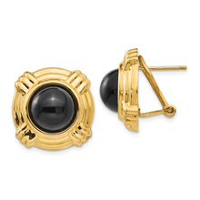 Load image into Gallery viewer, 14k Onyx Fancy Earrings