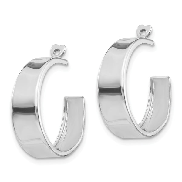 14k White Gold Polished Hoop Earring Jackets