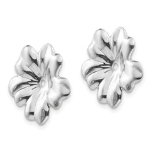Load image into Gallery viewer, 14k White Gold Floral Earring Jackets