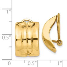 Load image into Gallery viewer, 14k Omega Clip Non-pierced Earrings