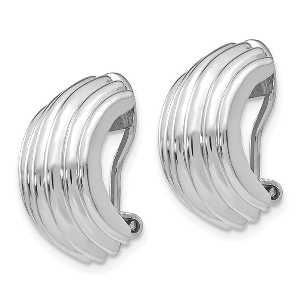 14k White Gold Non-pierced Earrings