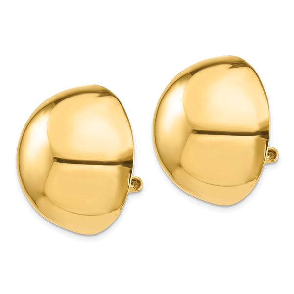 14k Omega Clip 24mm Half Ball Non-pierced Earrings
