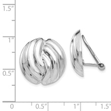 Load image into Gallery viewer, 14k White Gold Omega Clip Non-pierced Earrings