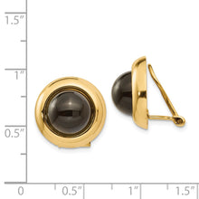 Load image into Gallery viewer, 14k Omega Clip Onyx Non-pierced Earrings