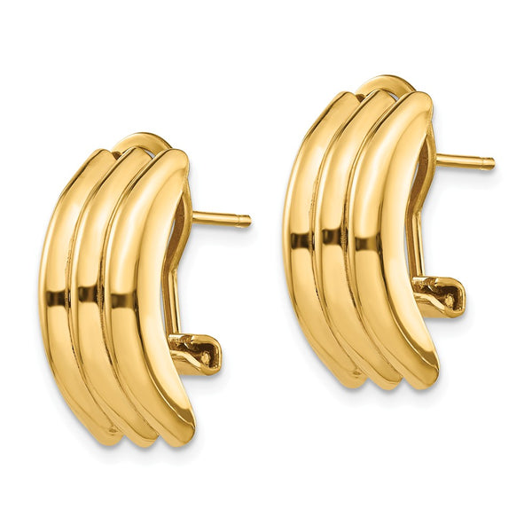 14k Omega Post Earrings
