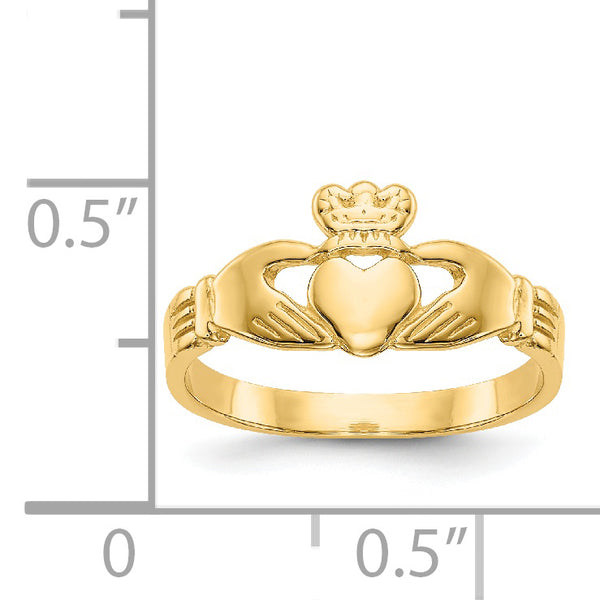14K Baby Claddagh Ring