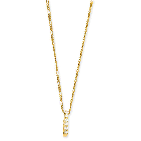 18in Gold-plated Kelly Waters CZ Drop Necklace