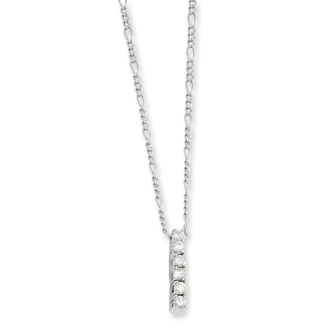 18in Rhodium-plated Kelly Waters CZ Drop Necklace