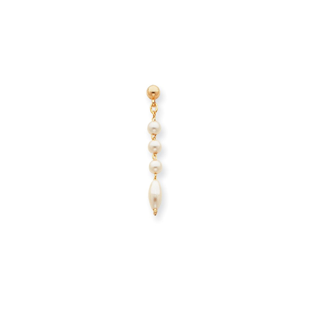 Rhodium-plated Kelly Waters White Simulated Pearl Earrings