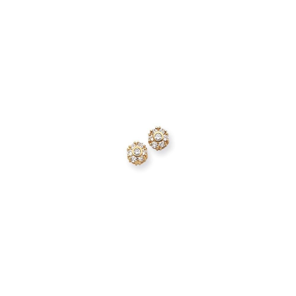 Gold-plated Kelly Waters White CZ Flower Earrings