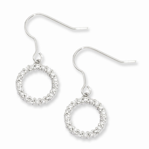 Rhodium-plated Kelly Waters CZ Circle Earrings