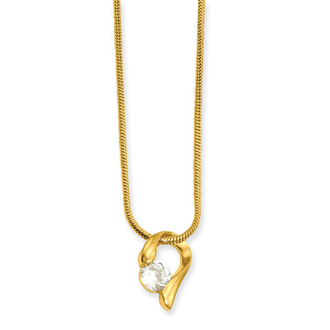 18in Gold-plated Kelly Waters CZ Necklace