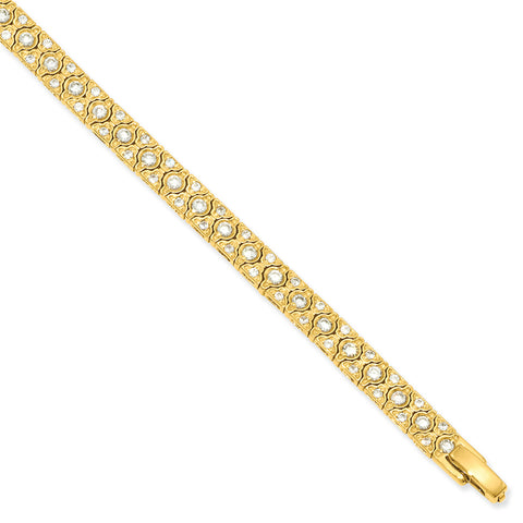7.25in Gold-plated Kelly Waters CZ Bracelet