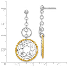 Load image into Gallery viewer, Leslie's Sterling Silver Gold-tone Flash Plated Post Dangle Earrings