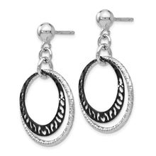 Load image into Gallery viewer, Leslie's Sterling Silver Ruthenium-plated Post Dangle Earrings