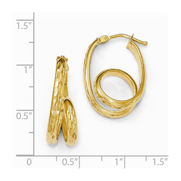 Leslie's 14k Gold Polished D/C Twisted Hoop Earrings