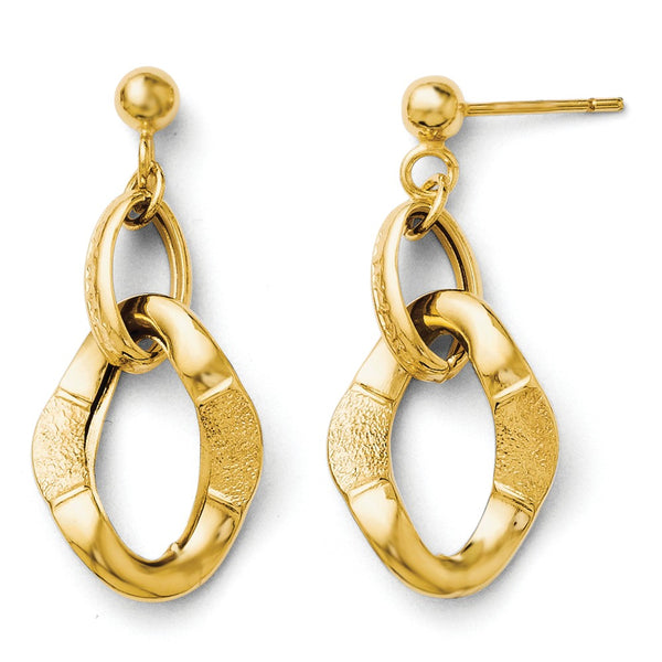 Leslie's 14k Fancy Post Dangle Earrings